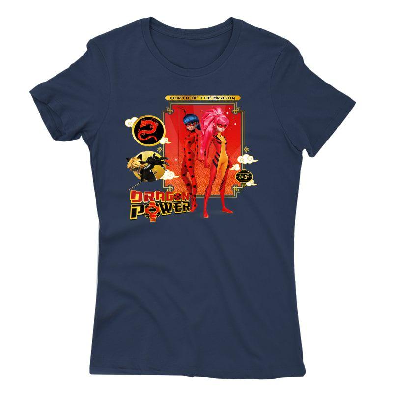 Miraculous Shanghai Ladydragon, Ladybug And Cat Noir Power T-shirt
