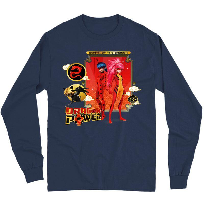 Miraculous Shanghai Ladydragon, Ladybug And Cat Noir Power T-shirt Long Sleeve T-shirt