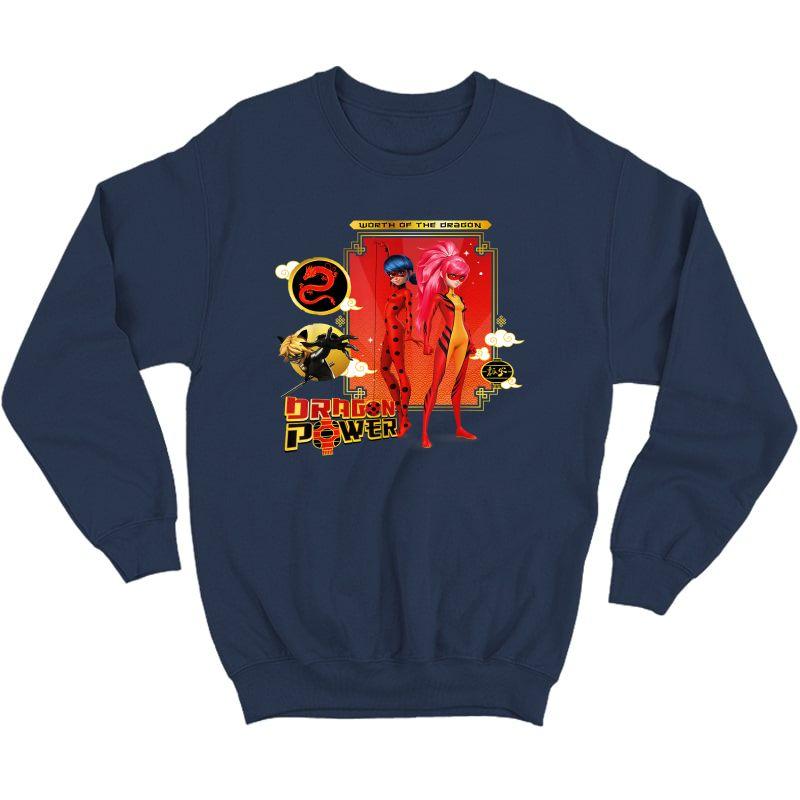 Miraculous Shanghai Ladydragon, Ladybug And Cat Noir Power T-shirt Crewneck Sweater