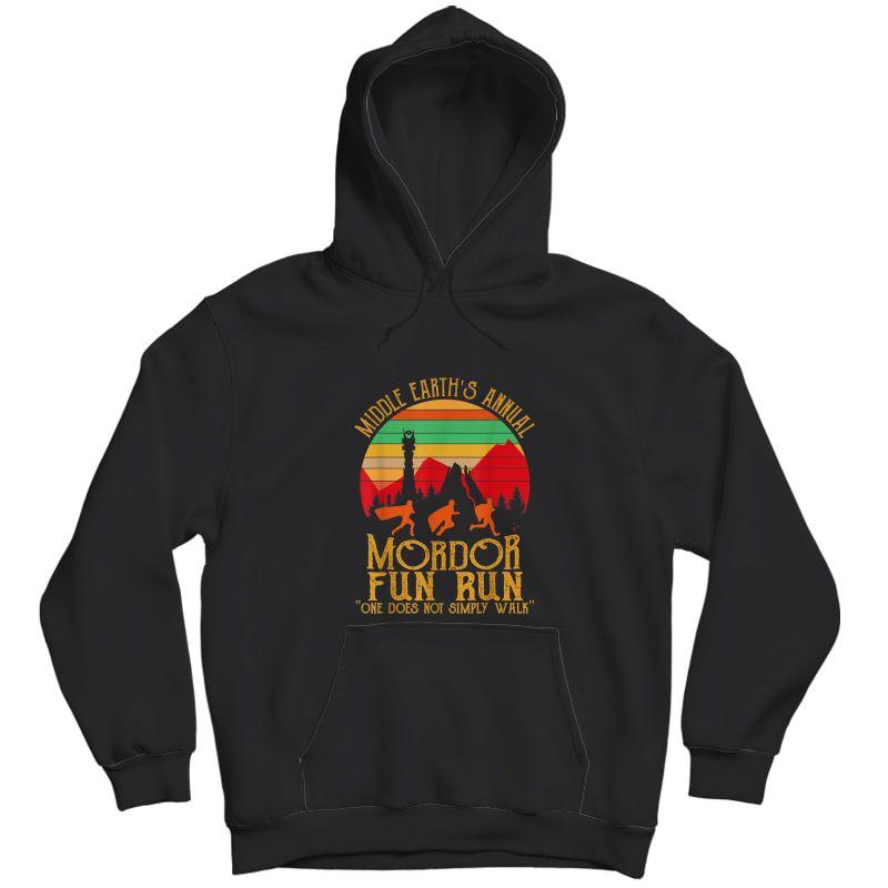 Mordor Fun Run One Does Not Simply Walk Vintage Retro T-shirt Unisex Pullover Hoodie