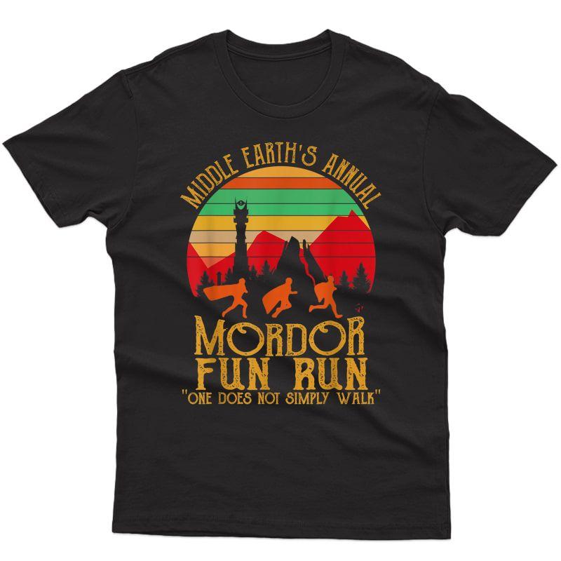 Mordor Fun Run One Does Not Simply Walk Vintage Retro T-shirt