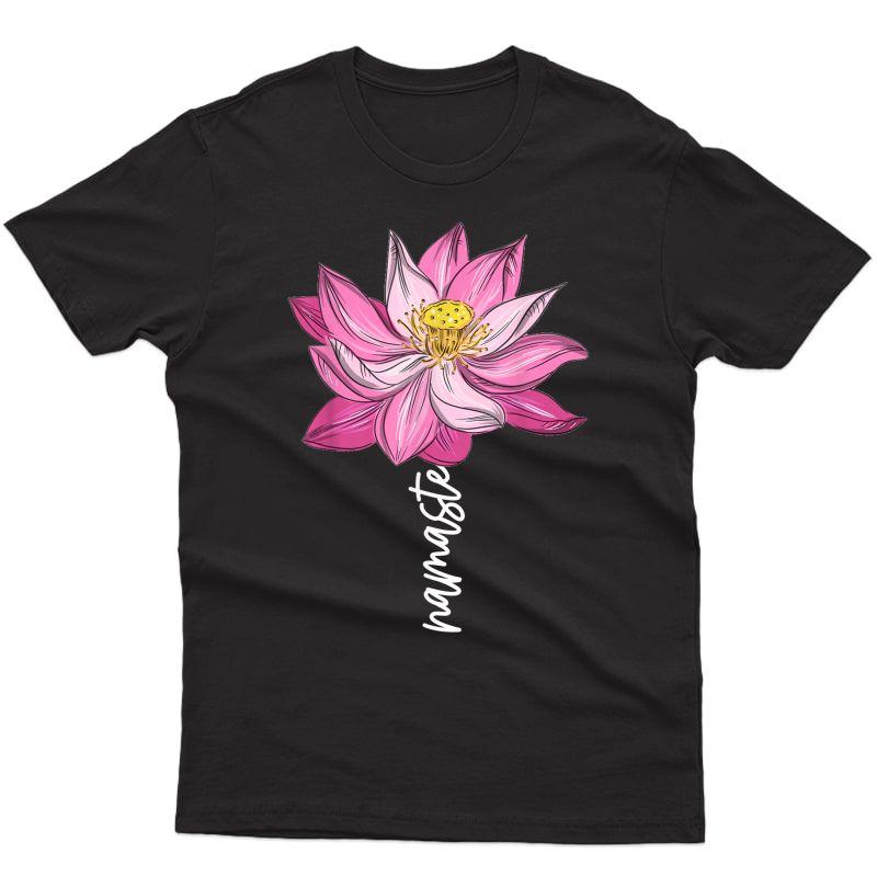 Namaste Lotus Flower Spiritual Yoga Meditation Gift T-shirt