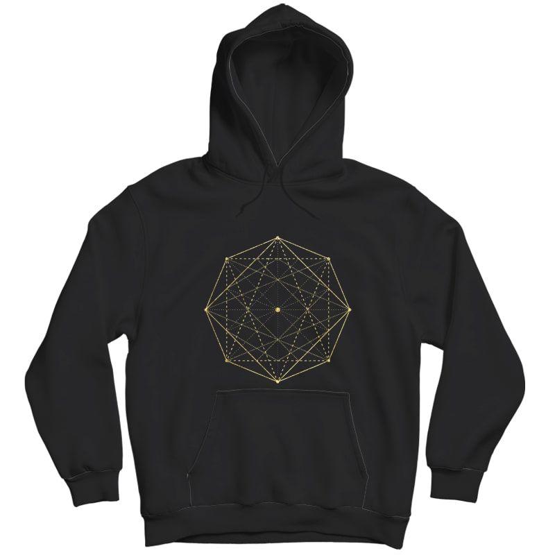 Octagon Matrix Sacred Geometry Shirt Gift Yoga Design T-shirt Unisex Pullover Hoodie