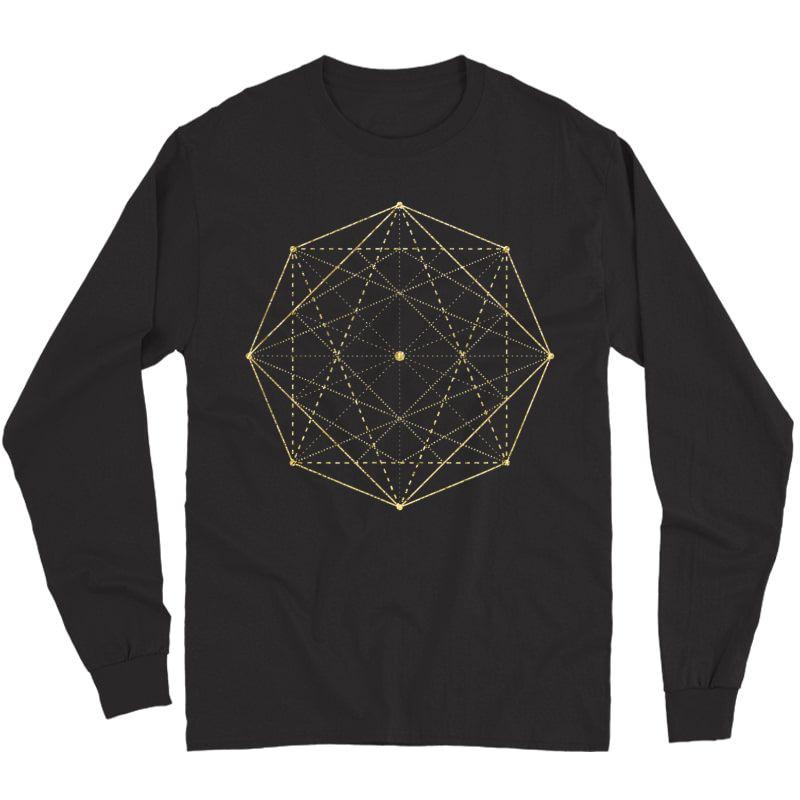 Octagon Matrix Sacred Geometry Shirt Gift Yoga Design T-shirt Long Sleeve T-shirt