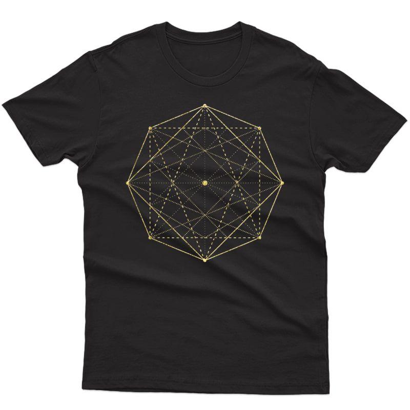 Octagon Matrix Sacred Geometry Shirt Gift Yoga Design T-shirt