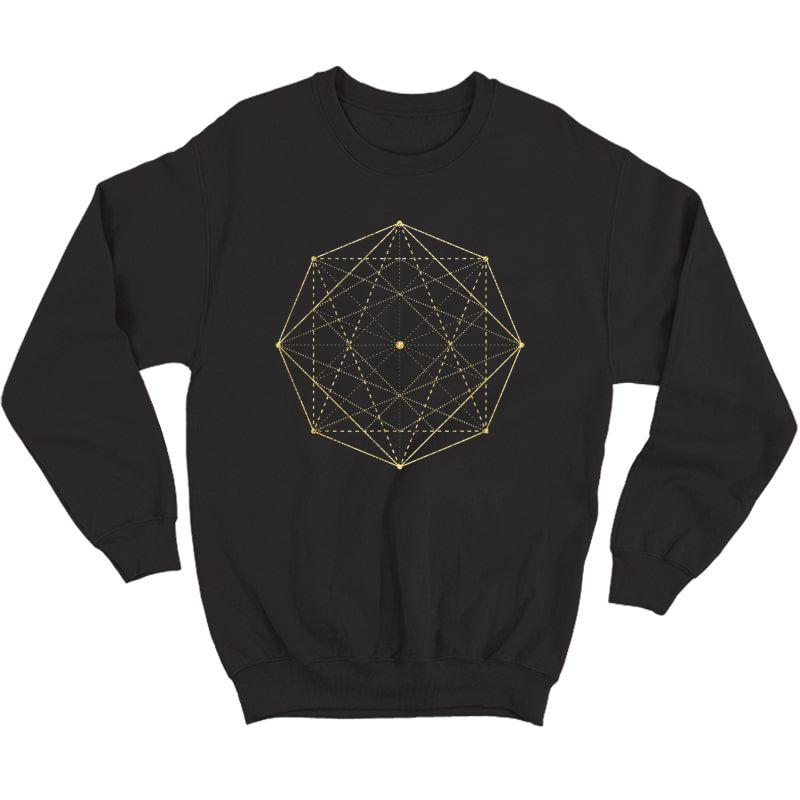 Octagon Matrix Sacred Geometry Shirt Gift Yoga Design T-shirt Crewneck Sweater