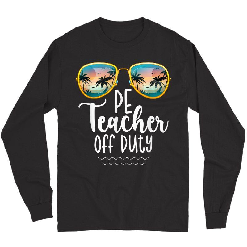 Off Duty Gym Pe Tea Beach Summer Trip Shirt T-shirt Long Sleeve T-shirt