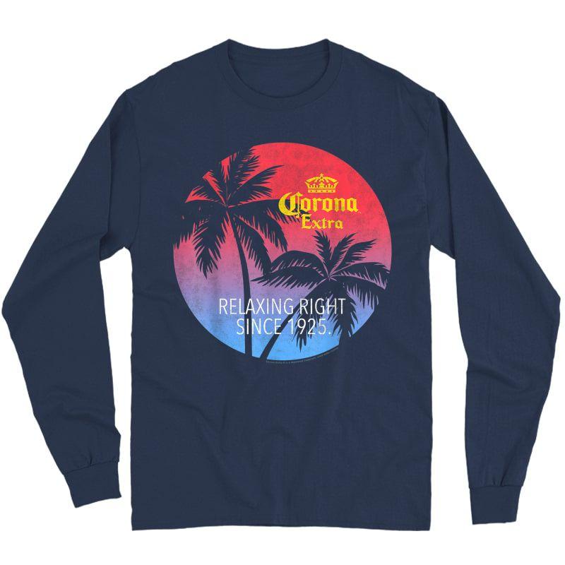 Corona Extra T Shirt For Beer Lovers T-shirt Long Sleeve T-shirt