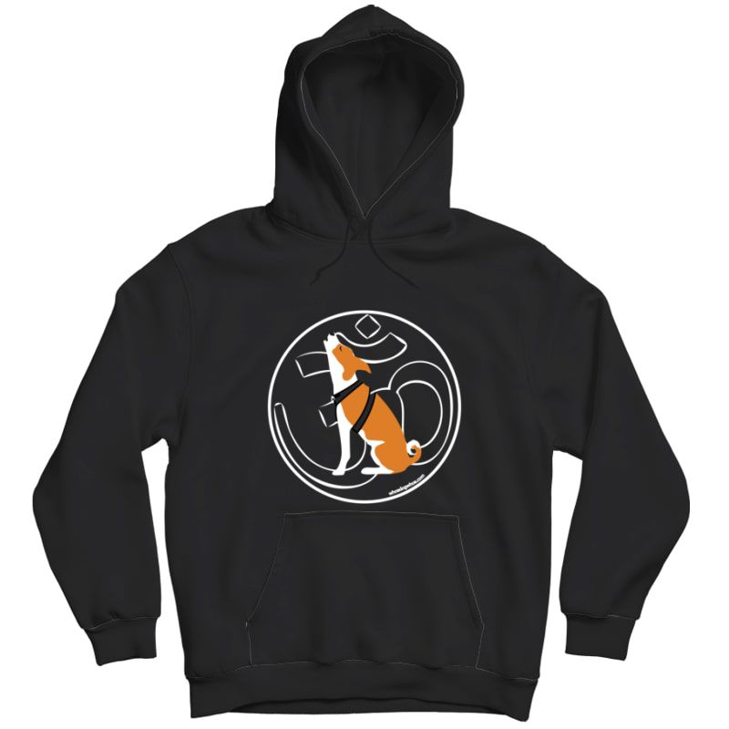 Om Yoga Dog Graphic T Shirt - Chanting Basenji - Unisex Pullover Hoodie