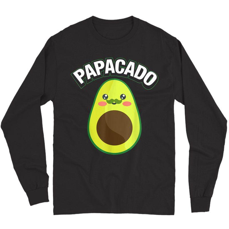 Papacado Pregnancy Papa T-shirt Long Sleeve T-shirt