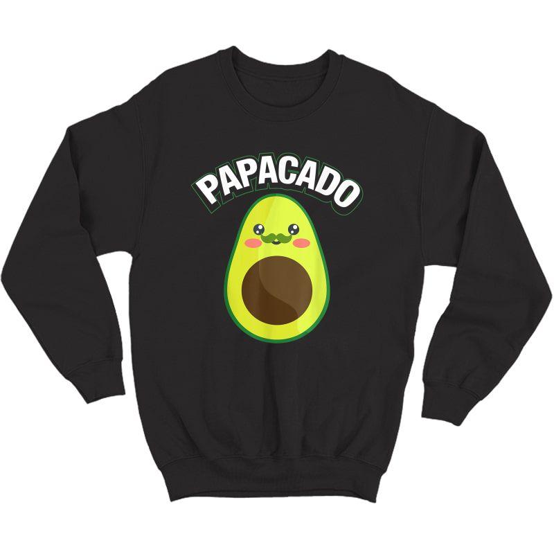 Papacado Pregnancy Papa T-shirt Crewneck Sweater