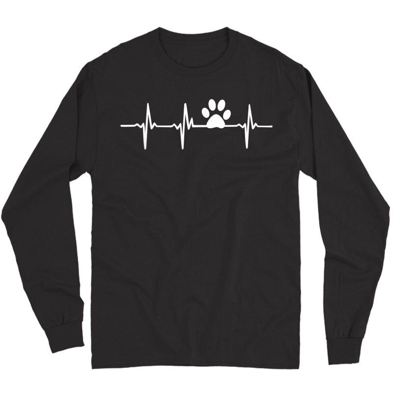 Paw Print Heartbeat Veterinarian Vet Tech T-shirt Long Sleeve T-shirt