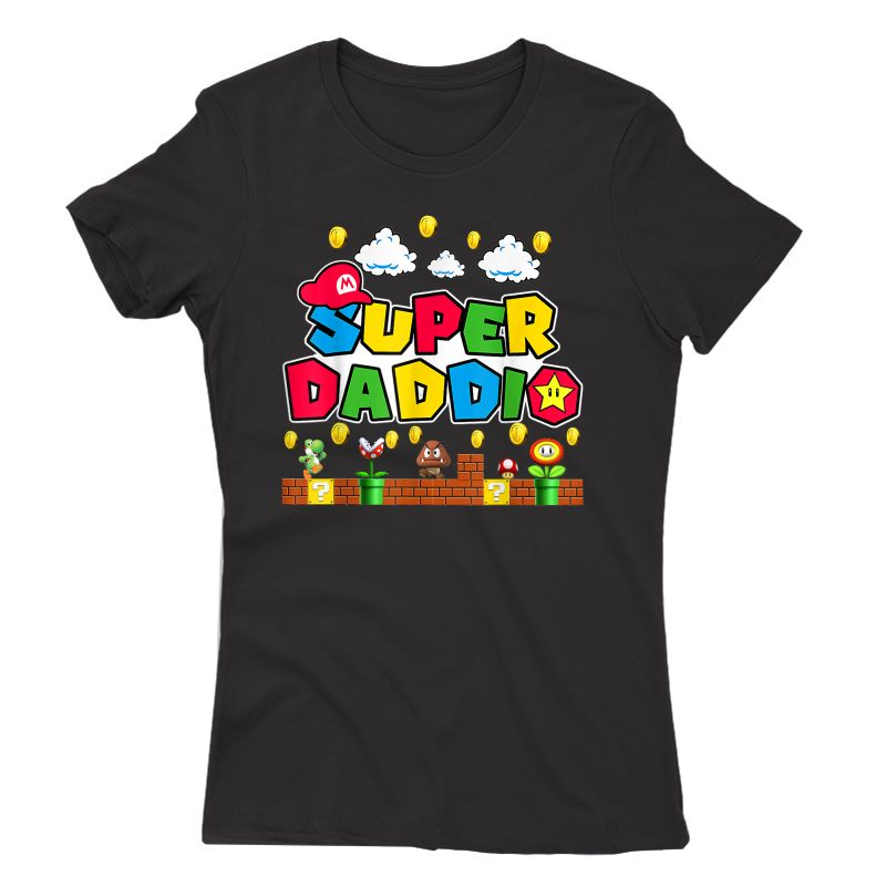 Personalization Super Dad.dio Funny Video Gaming For Father T-shirt