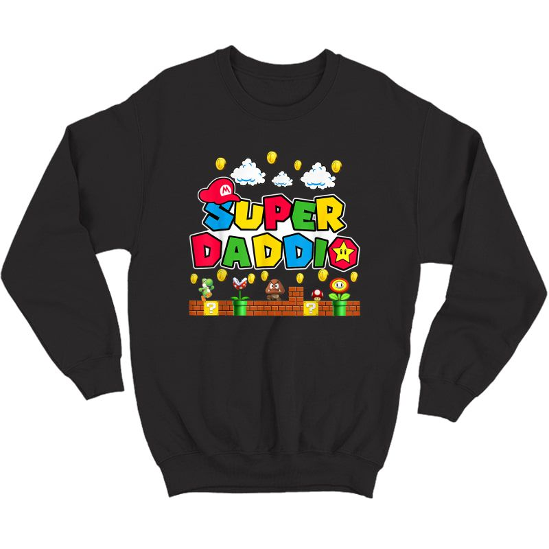 Personalization Super Dad.dio Funny Video Gaming For Father T-shirt Crewneck Sweater