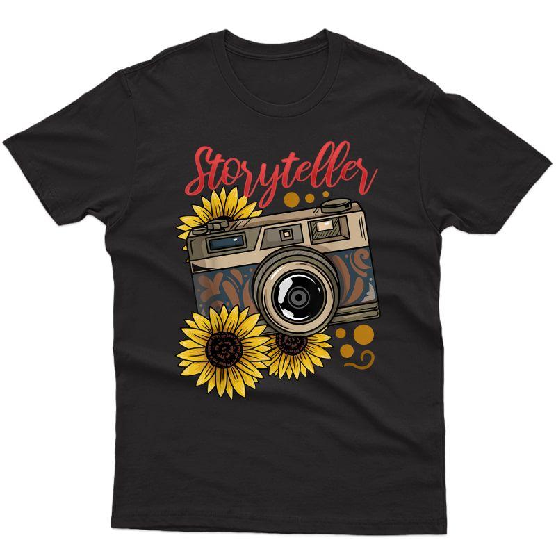 Photographer Photography Storyteller Camera Gift T-shirt