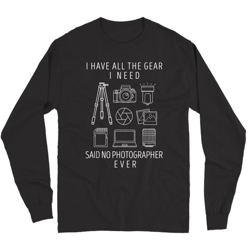 Photography Lover Gift T-shirt Funny Camera Photographer Tee T-shirt Long Sleeve T-shirt