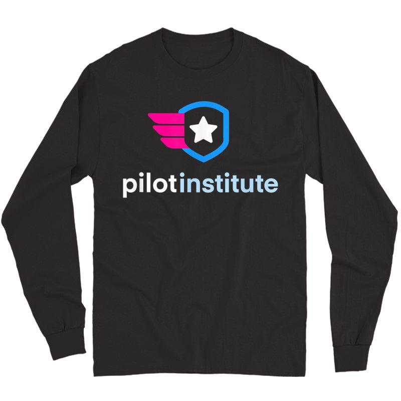 Pilot Institute Logo T-shirt Long Sleeve T-shirt