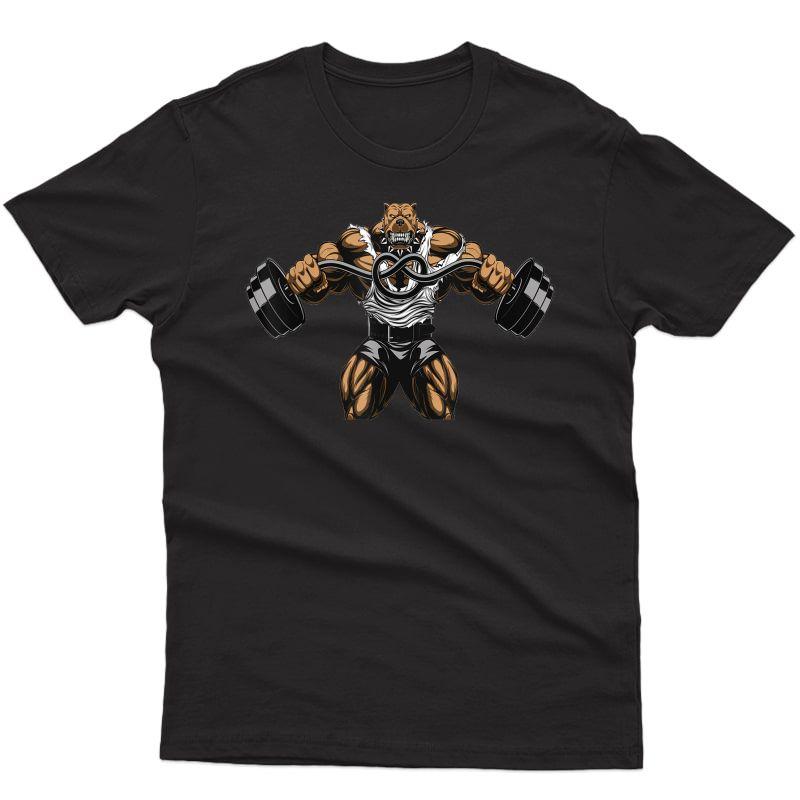 Pitbull Lifting Weightlifting T Shirt