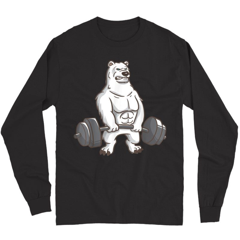 Polar Bear Powerlifting Weightlifting Gym And Animal Lovers T-shirt Long Sleeve T-shirt