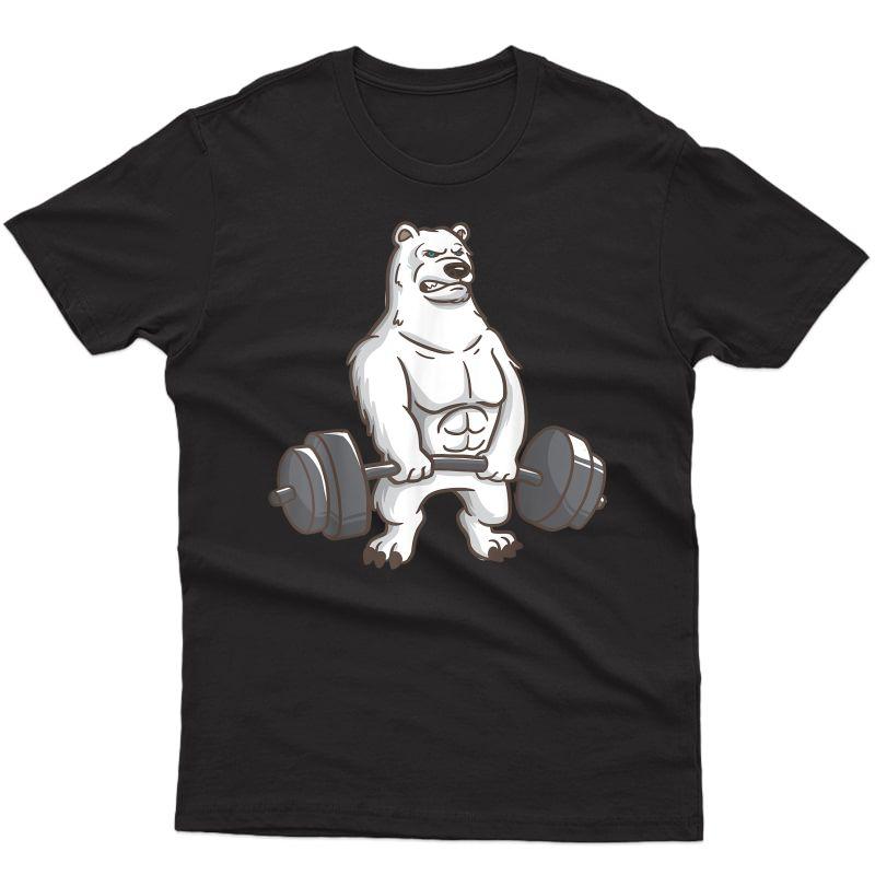 Polar Bear Powerlifting Weightlifting Gym And Animal Lovers T-shirt