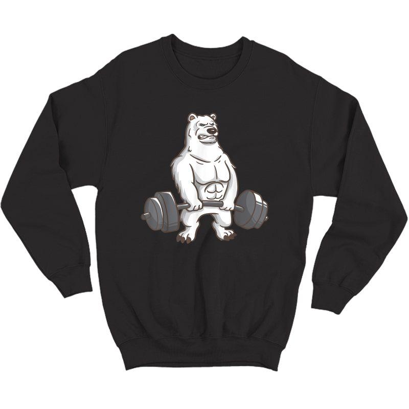 Polar Bear Powerlifting Weightlifting Gym And Animal Lovers T-shirt Crewneck Sweater