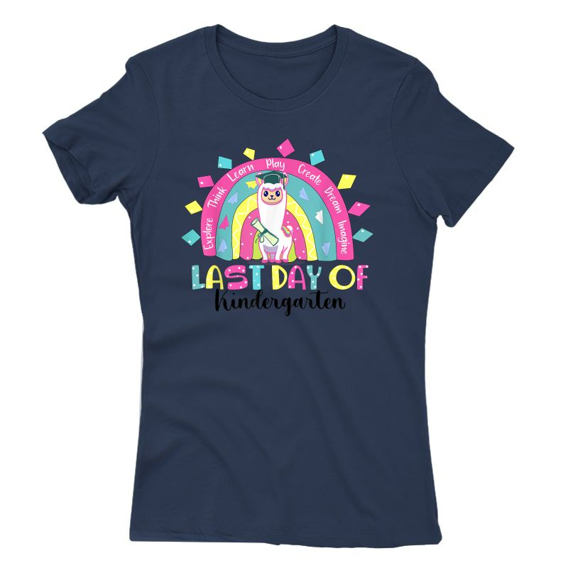 Rainbow Last Day Of School Kindergarten Tea Student T-shirt