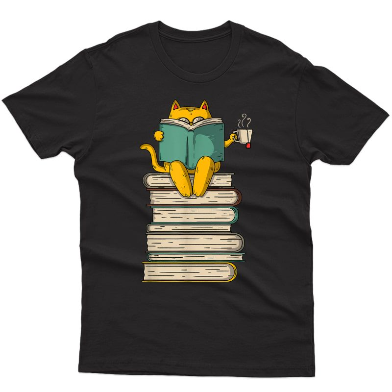 Reading Cat - Funny Book & Tea Lover Gift T-shirt