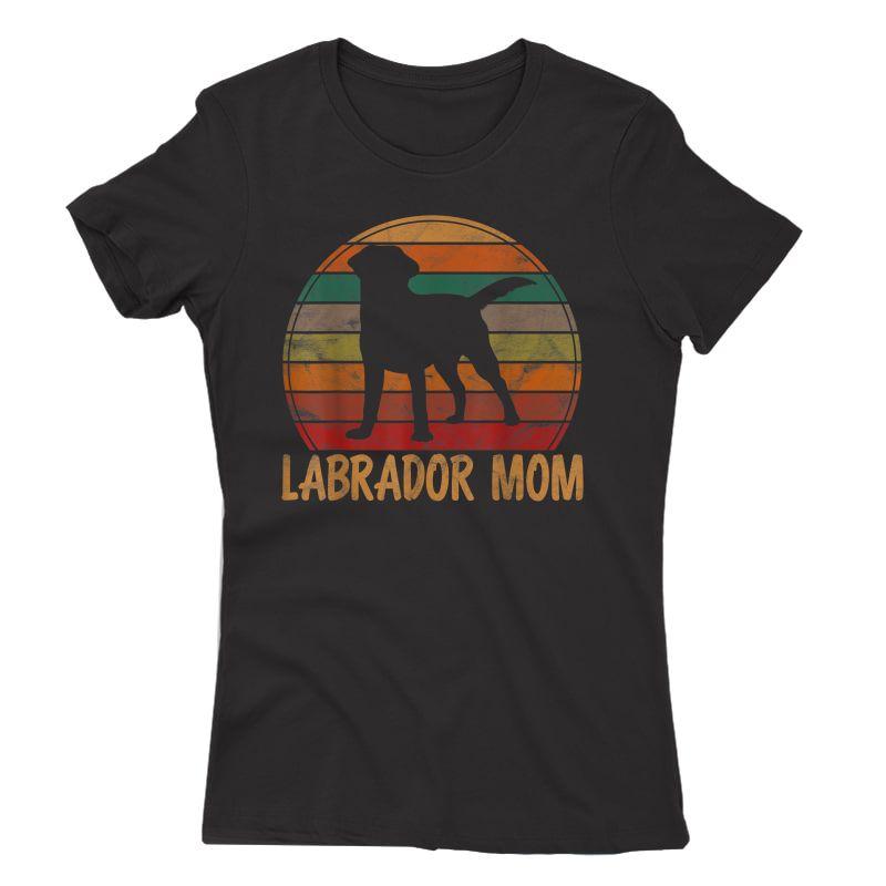 Retro Labrador Mom Dog Mother Pet Golden Black Lab Mama T-shirt
