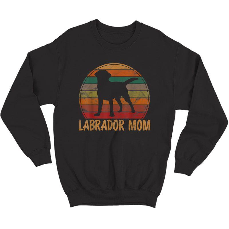 Retro Labrador Mom Dog Mother Pet Golden Black Lab Mama T-shirt Crewneck Sweater
