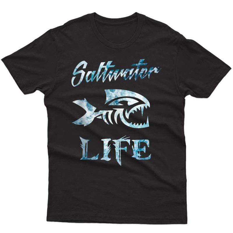 Saltwater Life Fishing Tank Top Shirts
