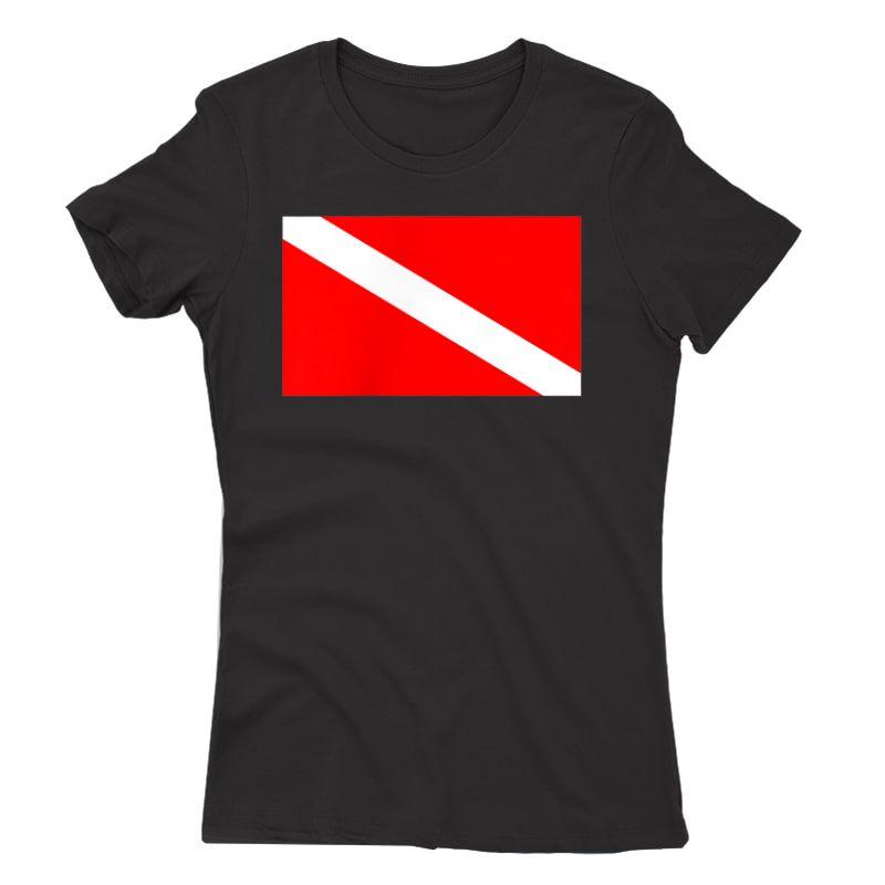 Scuba Flag Diver Down Flag Diving T-shirt