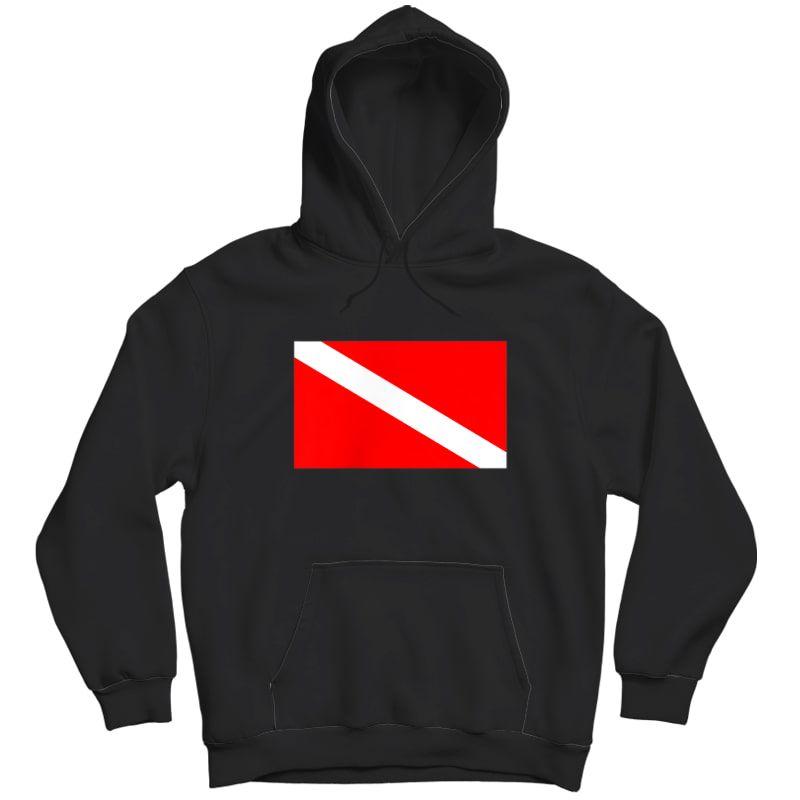 Scuba Flag Diver Down Flag Diving T-shirt Unisex Pullover Hoodie