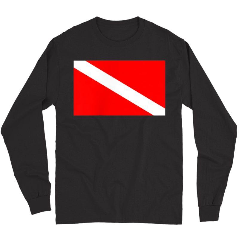 Scuba Flag Diver Down Flag Diving T-shirt Long Sleeve T-shirt