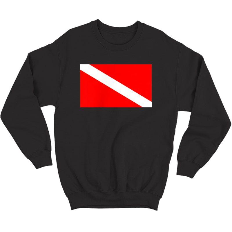 Scuba Flag Diver Down Flag Diving T-shirt Crewneck Sweater