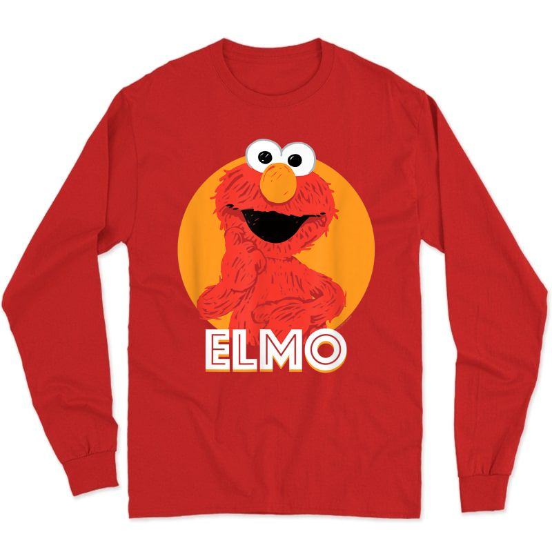 Sesame Street Elmo Scribble T-shirt Long Sleeve T-shirt