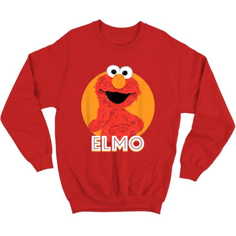 Sesame Street Elmo Scribble T-shirt Crewneck Sweater