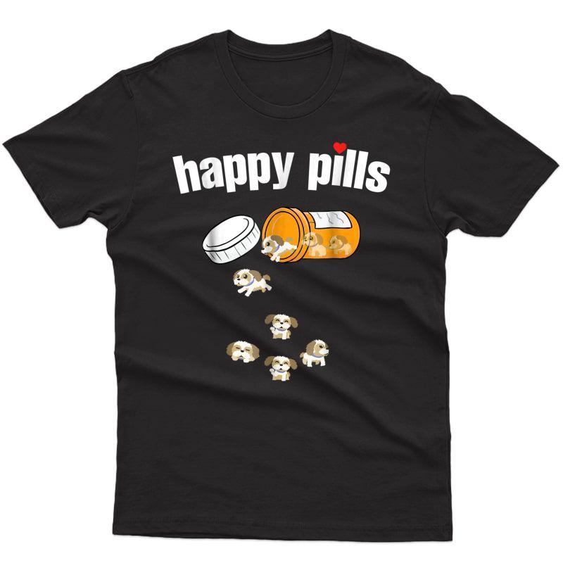 Shih Tzu Pills Funny Dog T Shirt