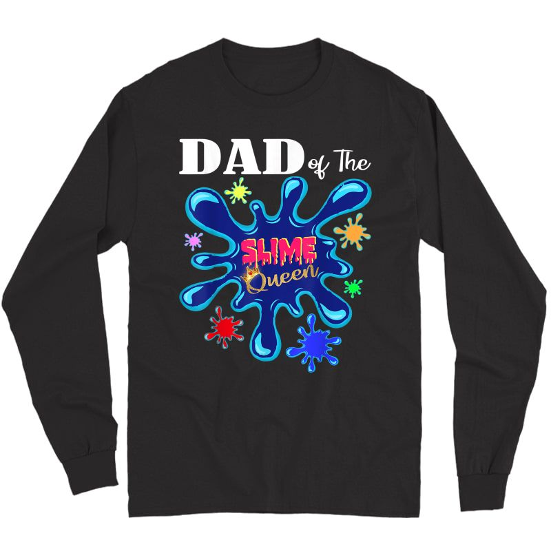 E Father Matching Birthday Party Dad Of The E Queen T-shirt Long Sleeve T-shirt