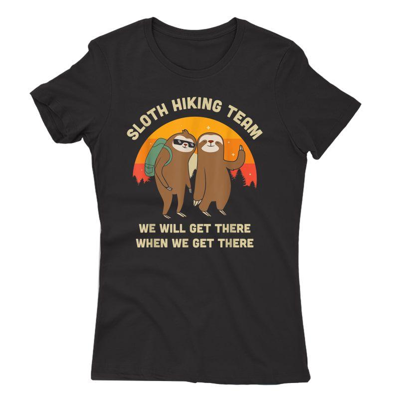 Sloth Hiking Team - Funny Vintage Gift T-shirt