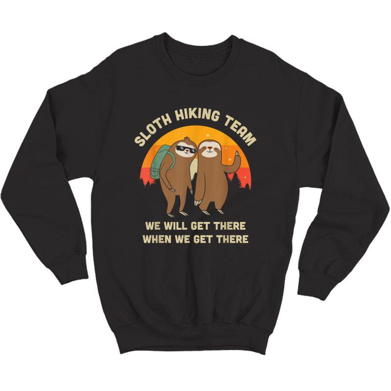 Sloth Hiking Team - Funny Vintage Gift T-shirt Crewneck Sweater