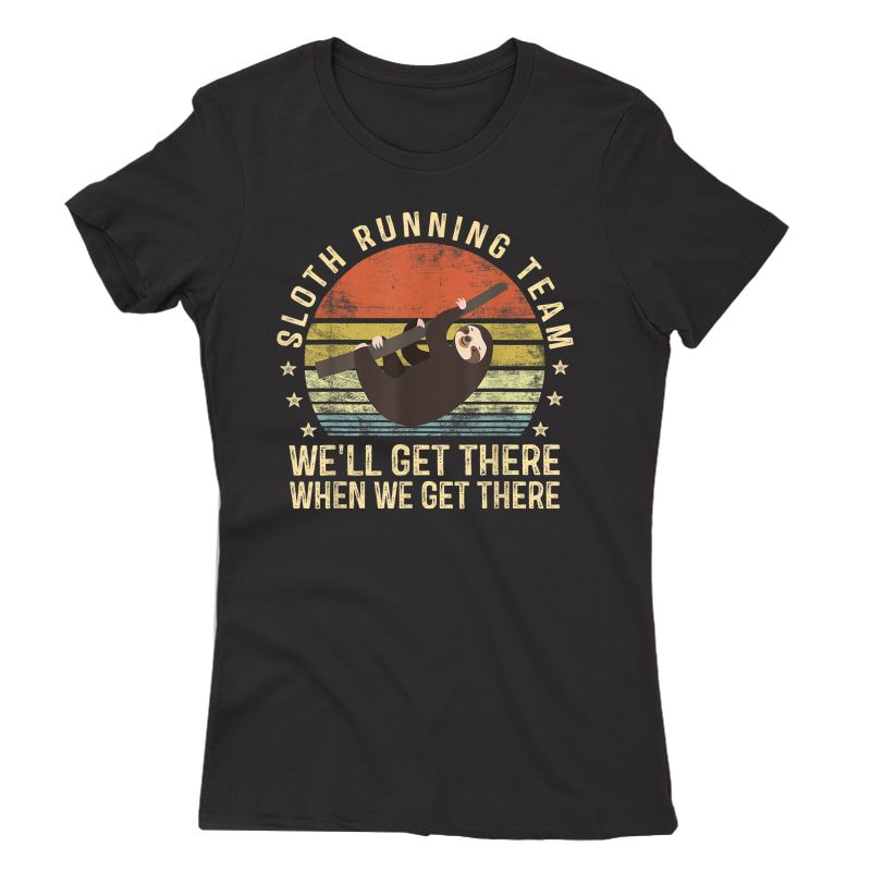 Sloth Running Team Funny Lazy Sloth Lover Gifts Vintage T-shirt
