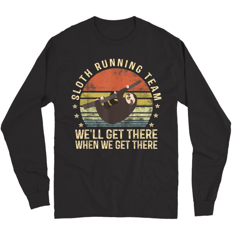 Sloth Running Team Funny Lazy Sloth Lover Gifts Vintage T-shirt Long Sleeve T-shirt