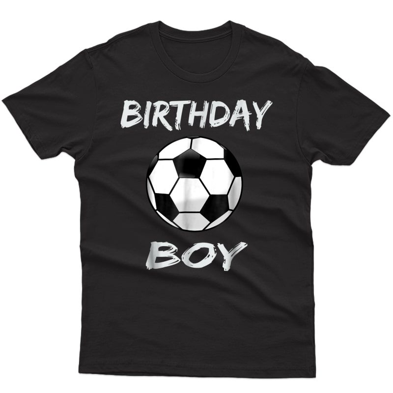 Soccer Birthday Boy T-shirt, Soccer Theme Birthday Party