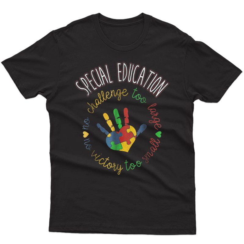 Special Education & Autism Awareness Tea T-shirt