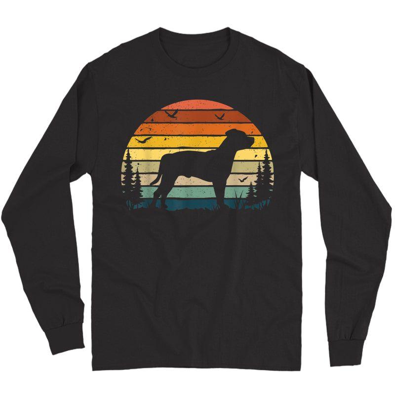 Staffordshire Bull Terrier Vintage Retro Dog Pet Lover Gift T-shirt Long Sleeve T-shirt