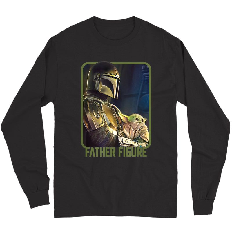 Star Wars The Mandalorian And The Child Father Figure T-shirt Long Sleeve T-shirt