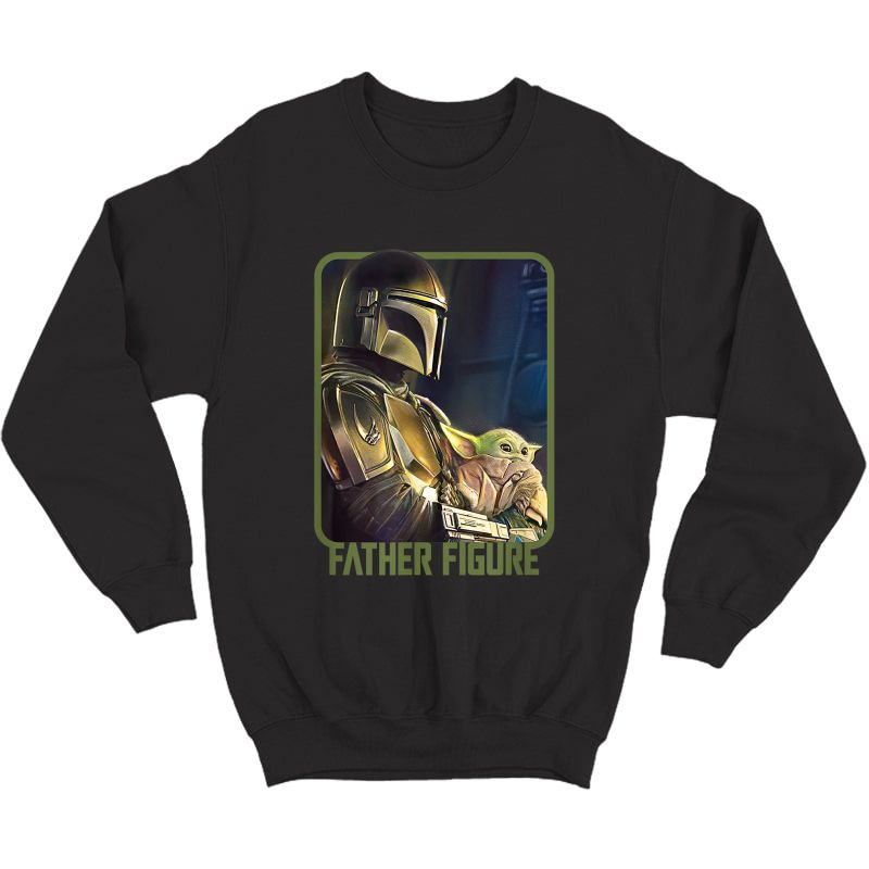 Star Wars The Mandalorian And The Child Father Figure T-shirt Crewneck Sweater
