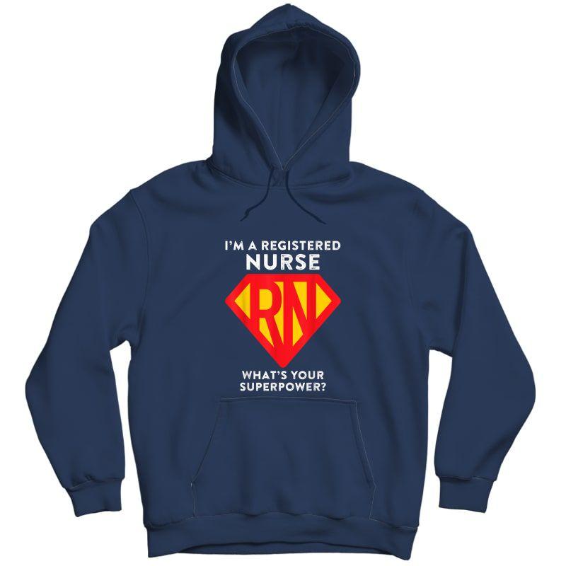Super Nurse Rn Superhero Registered Nurse Hero Shirts Unisex Pullover Hoodie