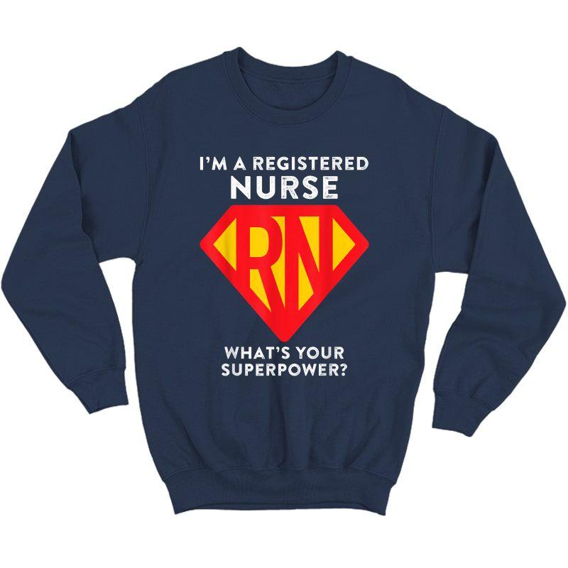 Super Nurse Rn Superhero Registered Nurse Hero Shirts Crewneck Sweater