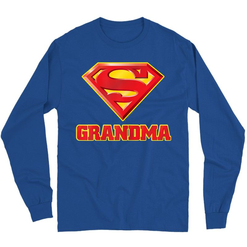 Superman Super Grandma T-shirt Long Sleeve T-shirt